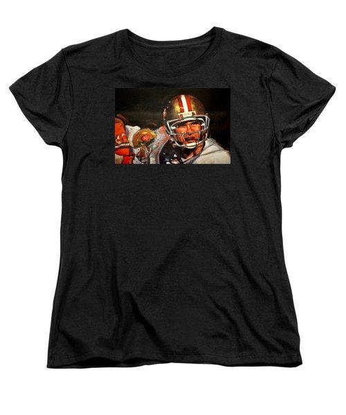 Joe Montana Women's T-Shirt (Standard Cut) by Jay Milo