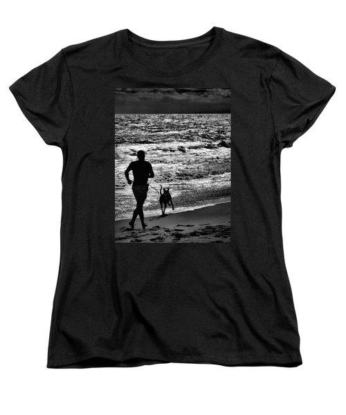Joggin Wit Dad Women's T-Shirt (Standard Cut) by Robert McCubbin
