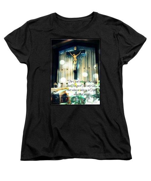 John316 - Easter Crucifix Women's T-Shirt (Standard Cut) by Sharon Soberon