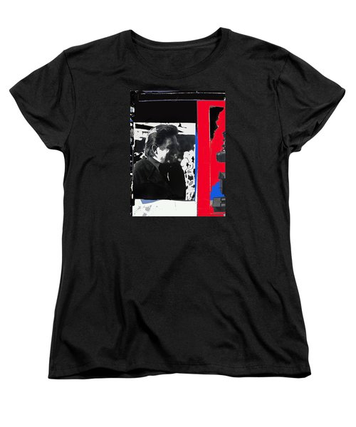Women's T-Shirt (Standard Cut) featuring the photograph Johnny Cash  Smiling Collage 1971-2008 by David Lee Guss