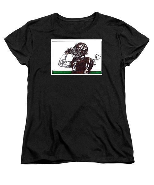 Johnny Manziel The Salute Women's T-Shirt (Standard Cut) by Jeremiah Colley