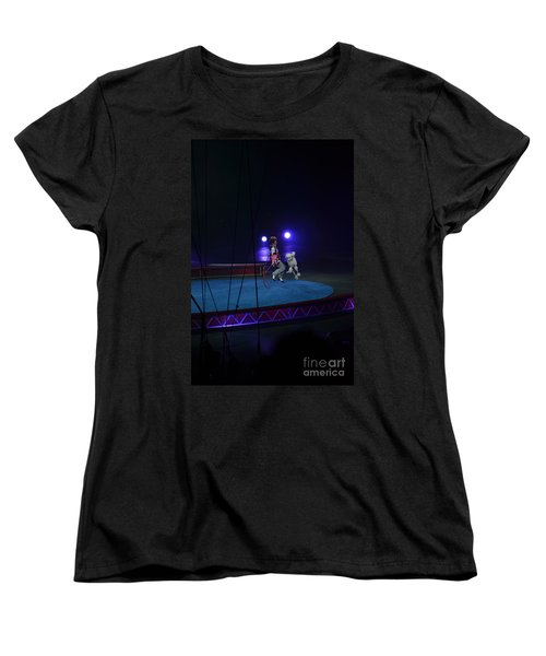 Women's T-Shirt (Standard Cut) featuring the photograph Jumprope With Fido by Robert Meanor