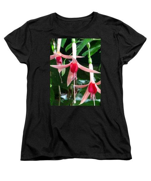 Women's T-Shirt (Standard Cut) featuring the photograph Juneau Glacier Gardens Fuchsia by Jennifer Wheatley Wolf