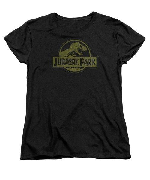 Jurassic Park - Distressed Logo Women's T-Shirt (Standard Cut) by Brand A