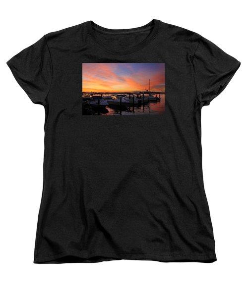 Just Before Dawn Women's T-Shirt (Standard Cut) by Roger Becker