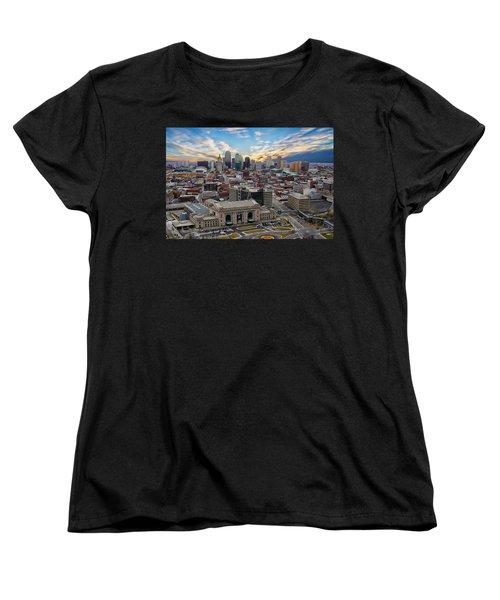 Kansas City Skyline Women's T-Shirt (Standard Cut) by Anthony Dezenzio
