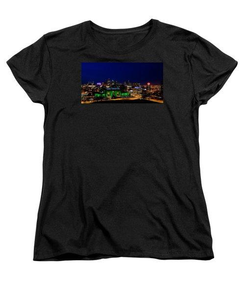 Kansas City Skyline Women's T-Shirt (Standard Cut) by Sennie Pierson