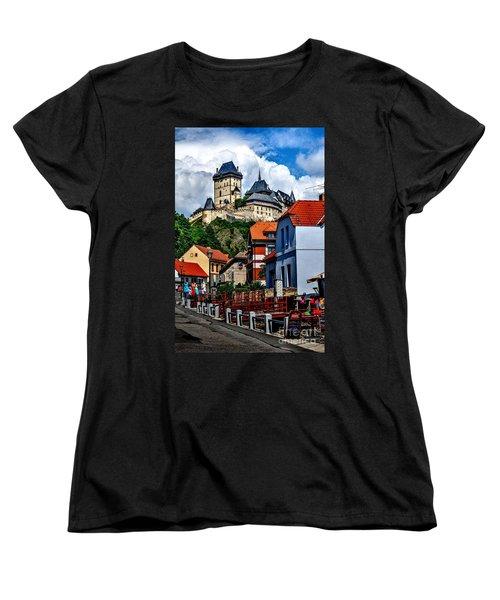 Karlstejn Castle In Prague  Women's T-Shirt (Standard Cut) by Joe  Ng