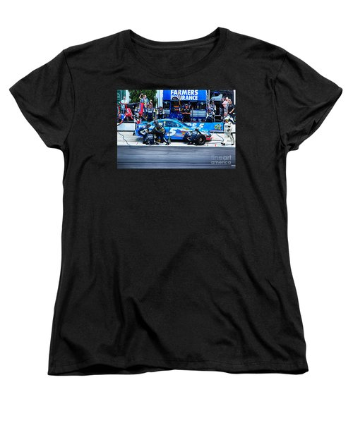 Kasey Kahne's Last Stop Before Victory Women's T-Shirt (Standard Cut) by Tony Cooper