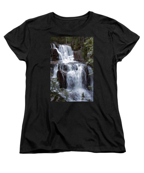 Katahdin Stream Falls Baxter State Park Maine Women's T-Shirt (Standard Cut) by Glenn Gordon