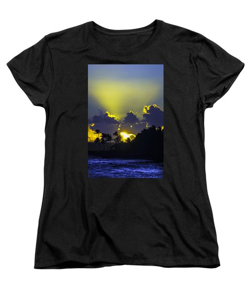 Kauai Sunset Women's T-Shirt (Standard Cut) by Debbie Karnes