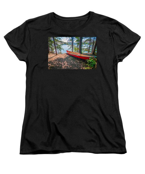 Kayak By The Water Women's T-Shirt (Standard Cut) by Alex Grichenko