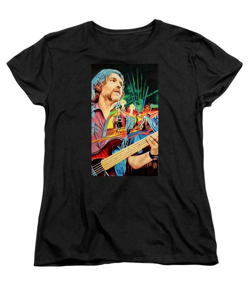 Women's T-Shirt (Standard Cut) featuring the painting Keith Moseley At Horning's Hideout by Joshua Morton