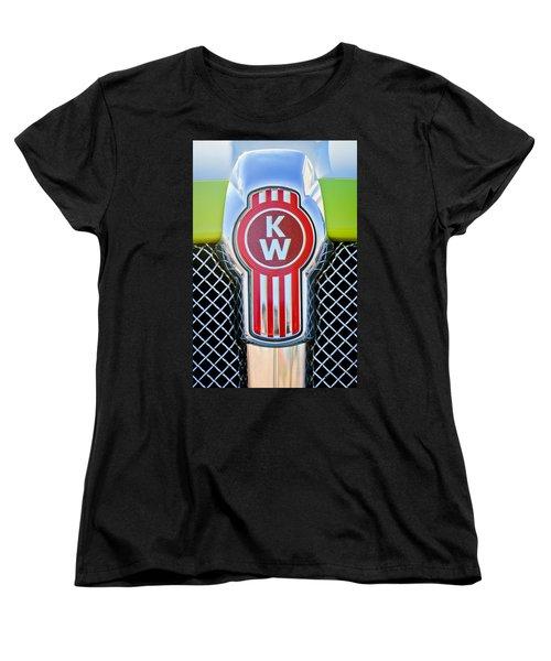 Kenworth Truck Emblem -1196c Women's T-Shirt (Standard Cut) by Jill Reger