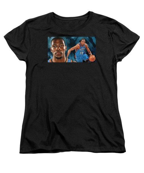 Kevin Durant Artwork Women's T-Shirt (Standard Cut) by Sheraz A
