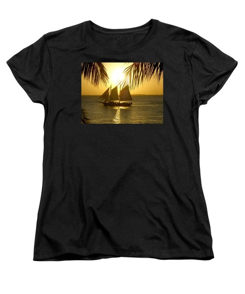 Key West Sunset Women's T-Shirt (Standard Cut) by Joan  Minchak