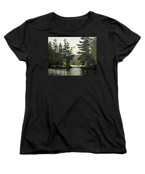 Women's T-Shirt (Standard Cut) featuring the painting Killarney by Kenneth M  Kirsch