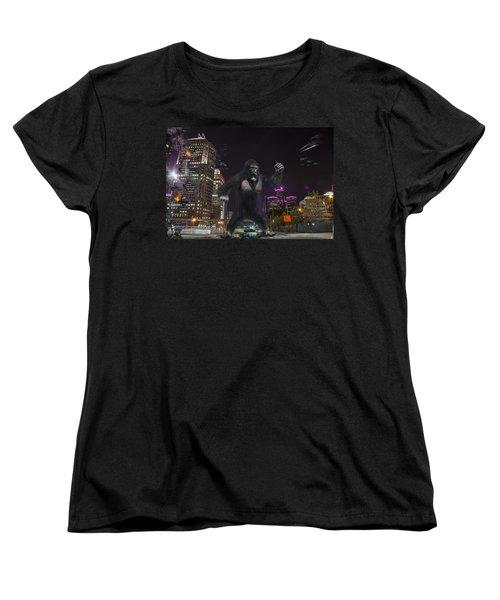 Women's T-Shirt (Standard Cut) featuring the photograph King Kong On Jefferson St In Detroit by Nicholas  Grunas
