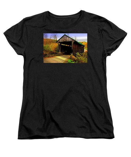 Women's T-Shirt (Standard Cut) featuring the photograph Kissing Bridge by Bill Howard