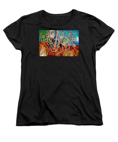 Klezmer Music Band Women's T-Shirt (Standard Cut) by Leon Zernitsky