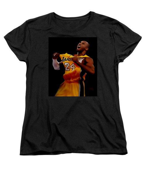 Kobe Bryant Sweet Victory Women's T-Shirt (Standard Cut) by Brian Reaves