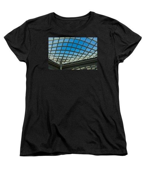 Kogod Courtyard Ceiling #3 Women's T-Shirt (Standard Cut) by Stuart Litoff