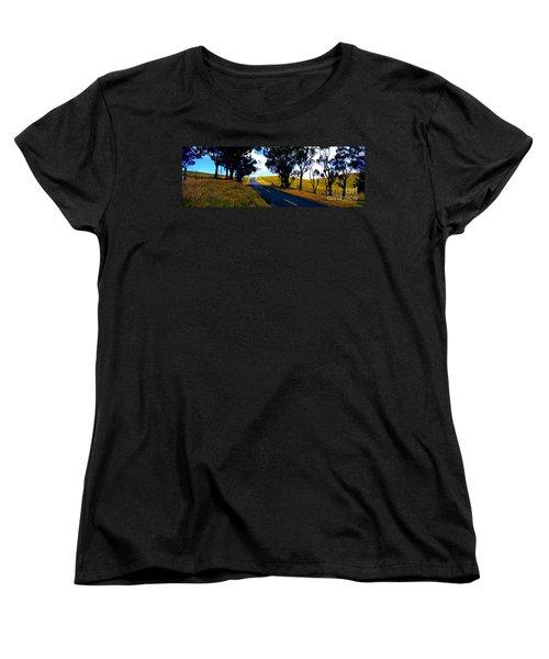 Women's T-Shirt (Standard Cut) featuring the photograph Kohala Mountain Road  Big Island Hawaii  by Tom Jelen