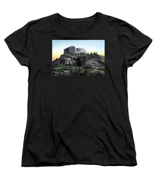 La Rocca De Monte Calvo Women's T-Shirt (Standard Cut) by Albert Puskaric