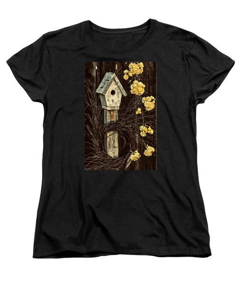 Lady Banks Roses Women's T-Shirt (Standard Cut) by Caitlyn  Grasso