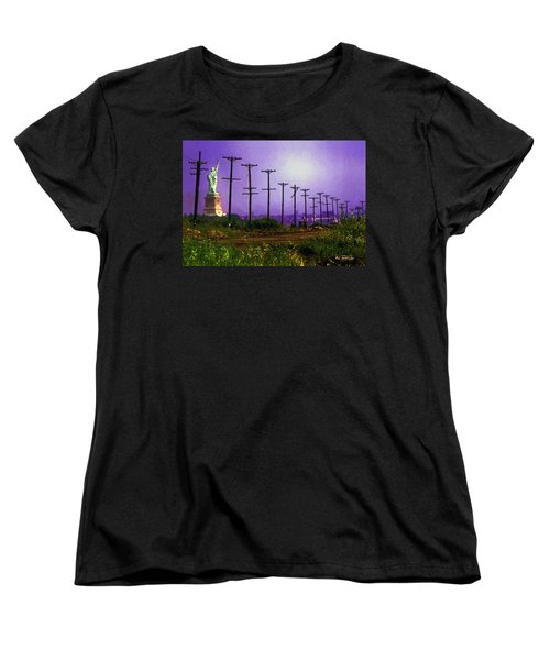 Lady Liberty Lost Women's T-Shirt (Standard Cut) by RC deWinter