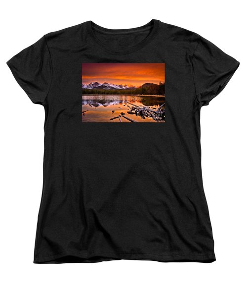 Lake Bierstadt In The Morn Women's T-Shirt (Standard Cut) by Steven Reed