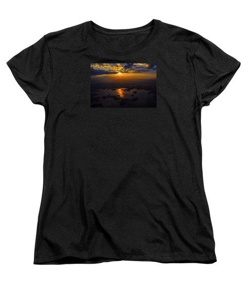 Lake Norman Sunrise Women's T-Shirt (Standard Cut) by Greg Reed