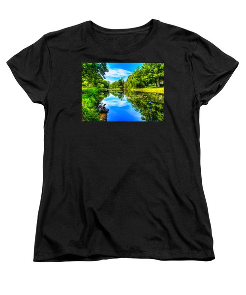 Lake Scene Women's T-Shirt (Standard Cut)