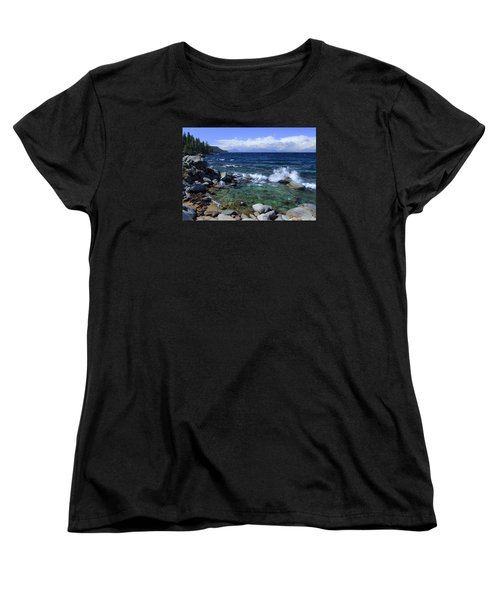 Women's T-Shirt (Standard Cut) featuring the photograph Lake Tahoe Wild  by Sean Sarsfield