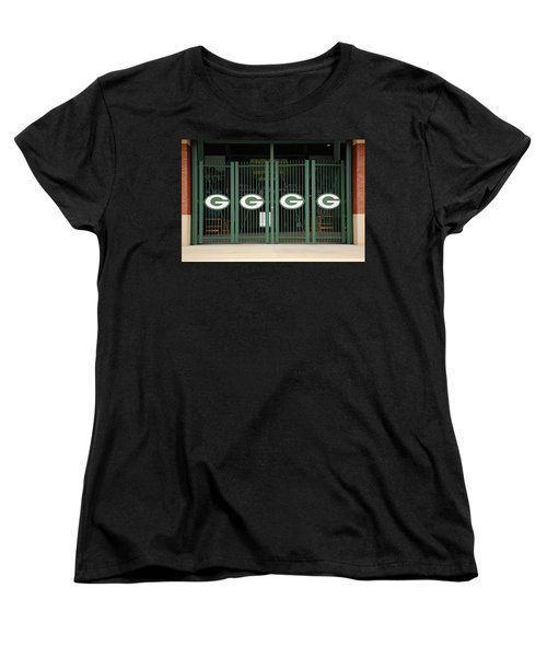 Lambeau Field - Green Bay Packers Women's T-Shirt (Standard Cut) by Frank Romeo