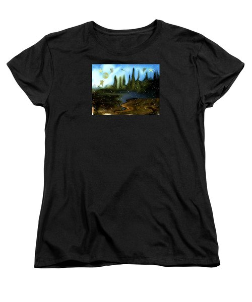 Land Of The Fairies  For Kids Women's T-Shirt (Standard Cut) by Sherri's Of Palm Springs