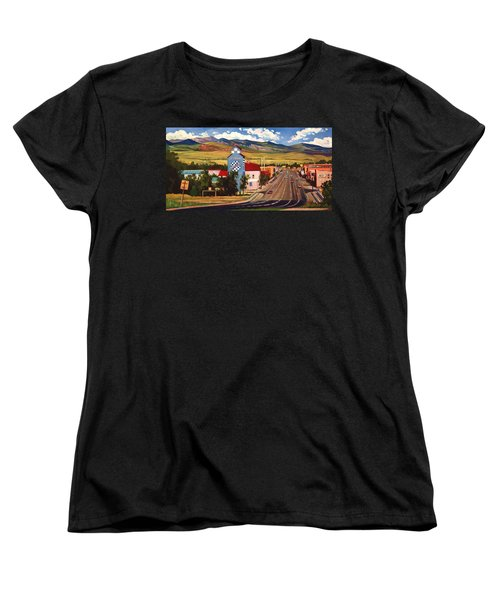 Women's T-Shirt (Standard Cut) featuring the painting Lander 2000 by Art James West