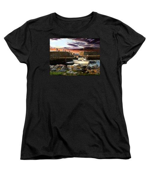 Lanes Cove Gloucester Women's T-Shirt (Standard Cut) by Eileen Patten Oliver