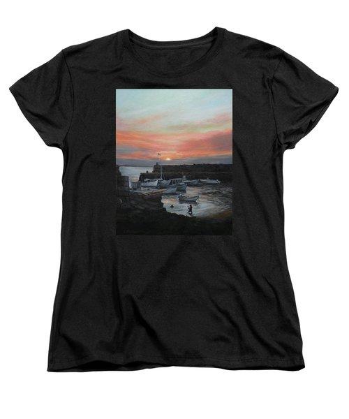 Lanes Cove Sunset Women's T-Shirt (Standard Cut) by Eileen Patten Oliver
