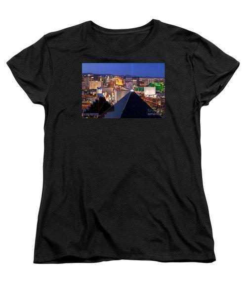 Las Vegas Skyline Women's T-Shirt (Standard Cut) by Brian Jannsen