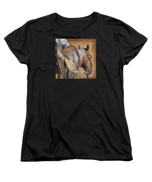 Lariat And Leather Women's T-Shirt (Standard Cut) by Kim Lockman