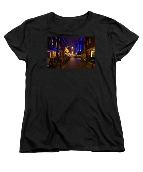 Late Night Neon  Women's T-Shirt (Standard Cut) by Jonah  Anderson