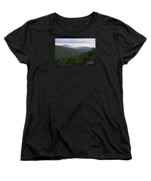 Women's T-Shirt (Standard Cut) featuring the photograph Laurel Fork Overlook II by Randy Bodkins