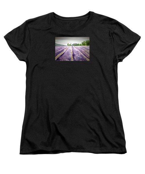 Lavender Fields Tasmania Women's T-Shirt (Standard Cut) by Elvira Ingram