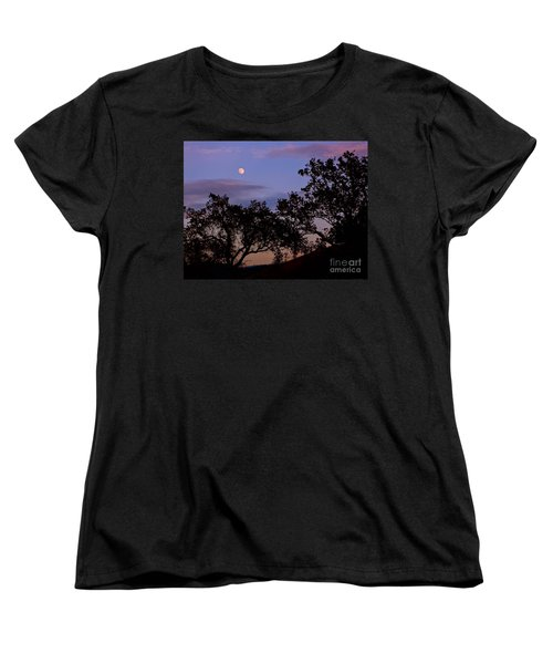 Lavender Moon Twilight Women's T-Shirt (Standard Cut) by Gem S Visionary