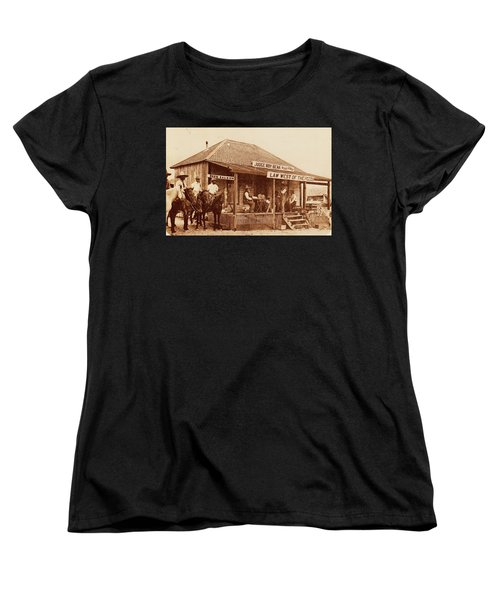 Law West Of The Pecos Women's T-Shirt (Standard Cut) by Pg Reproductions