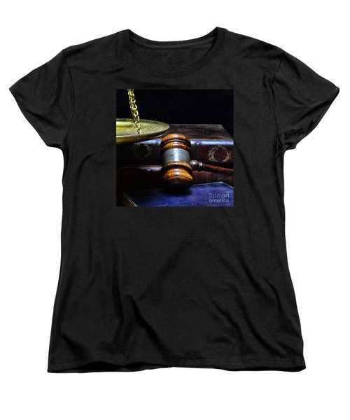 Lawyer - Books Of Justice Women's T-Shirt (Standard Cut) by Paul Ward