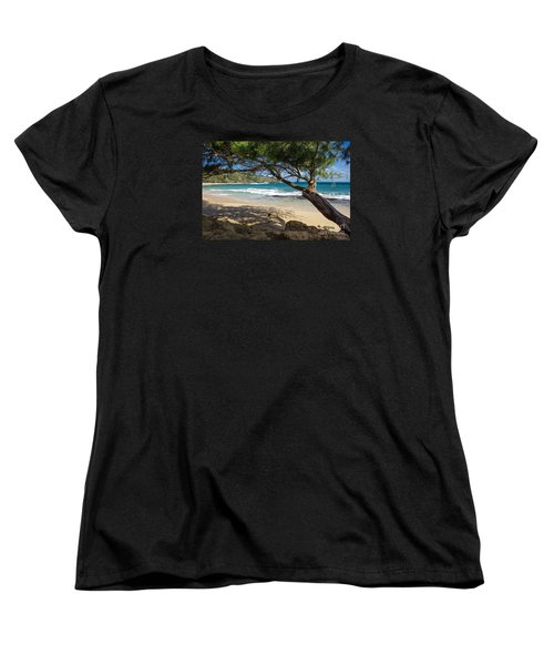 Women's T-Shirt (Standard Cut) featuring the photograph Lazy Day At The Beach by Suzanne Luft