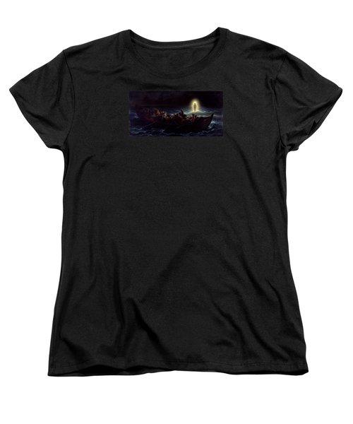 Le Christ Marchant Sur La Mer Women's T-Shirt (Standard Cut) by Amedee Varint