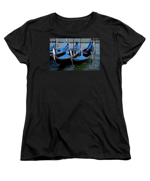 Women's T-Shirt (Standard Cut) featuring the photograph Gli Gondole by Ivete Basso Photography